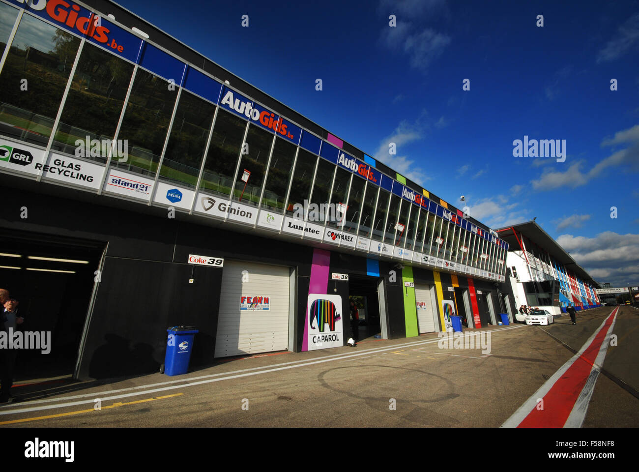 Circuito Zolder Belgica : Paddock at zolder race circuit belgium stock photo  alamy