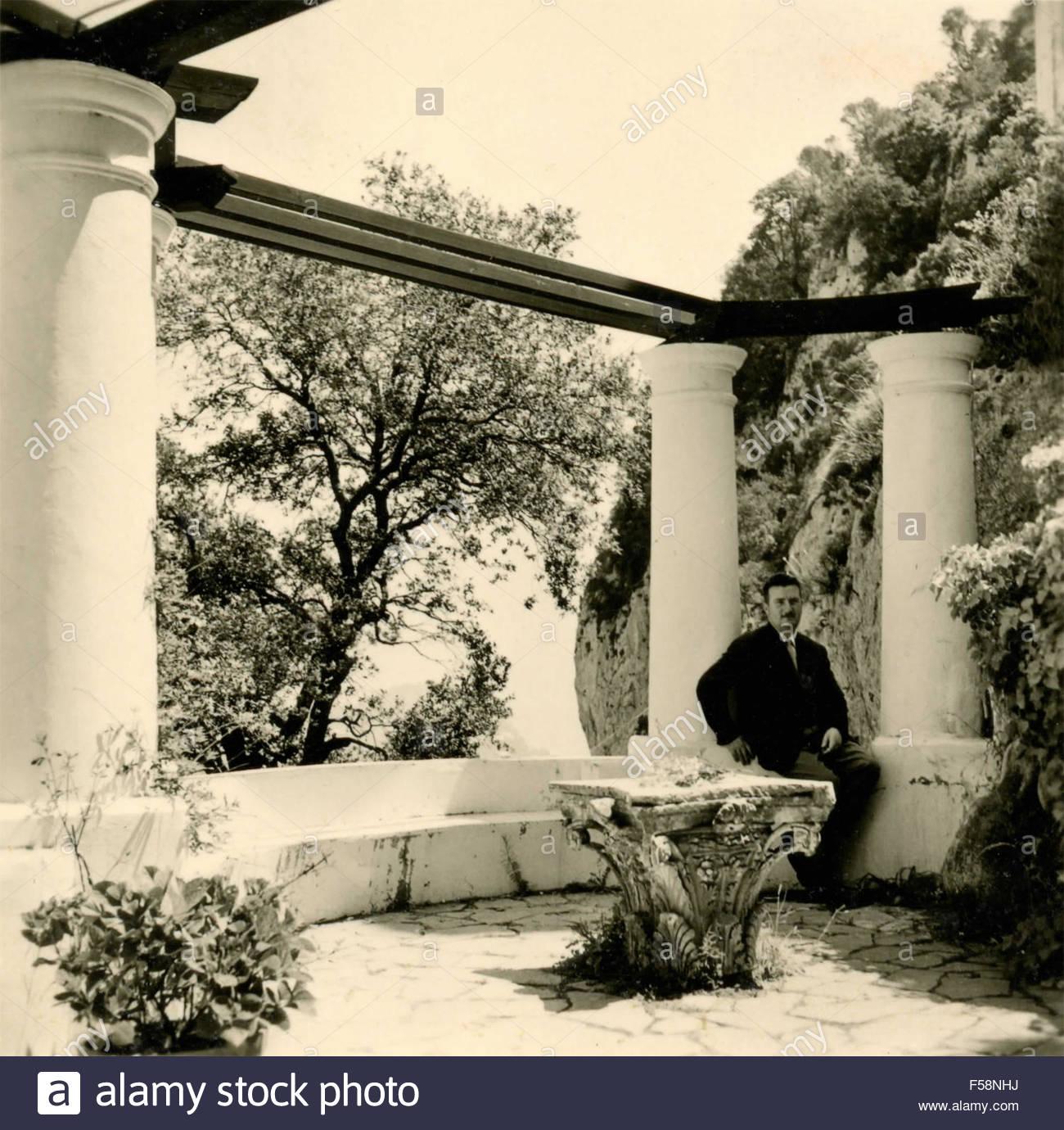 In The Gardens Of Villa San Michele Capri Italy Stock