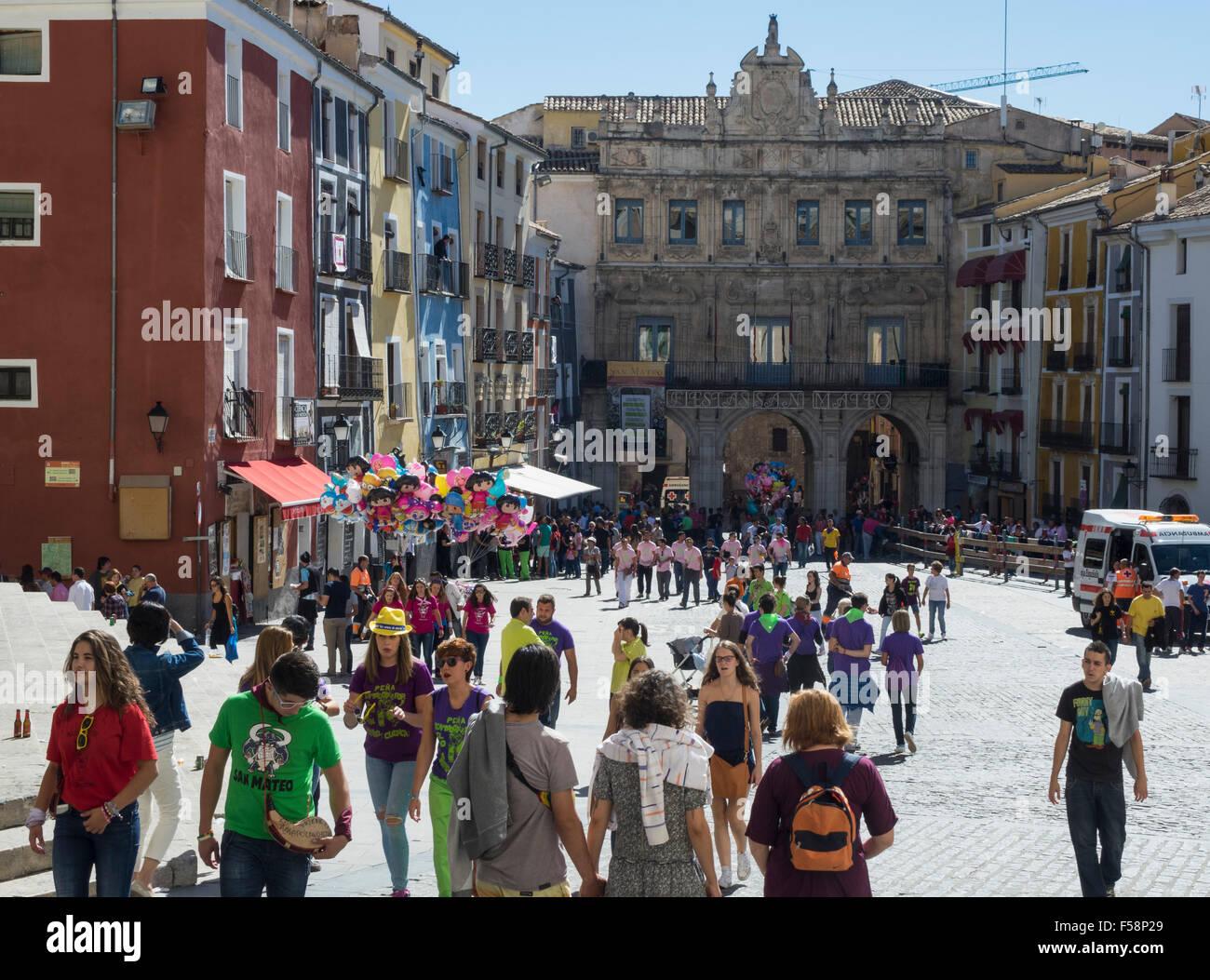 Town of Cuenca in Castilla-La Mancha, Spain, Europe - Stock Image