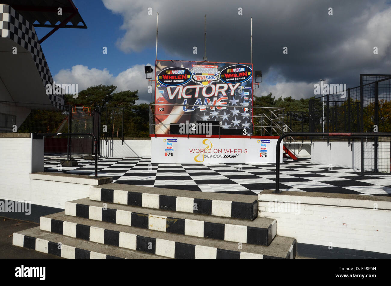 Circuito Zolder Belgica : Podium at zolder race circuit belgium stock photo  alamy
