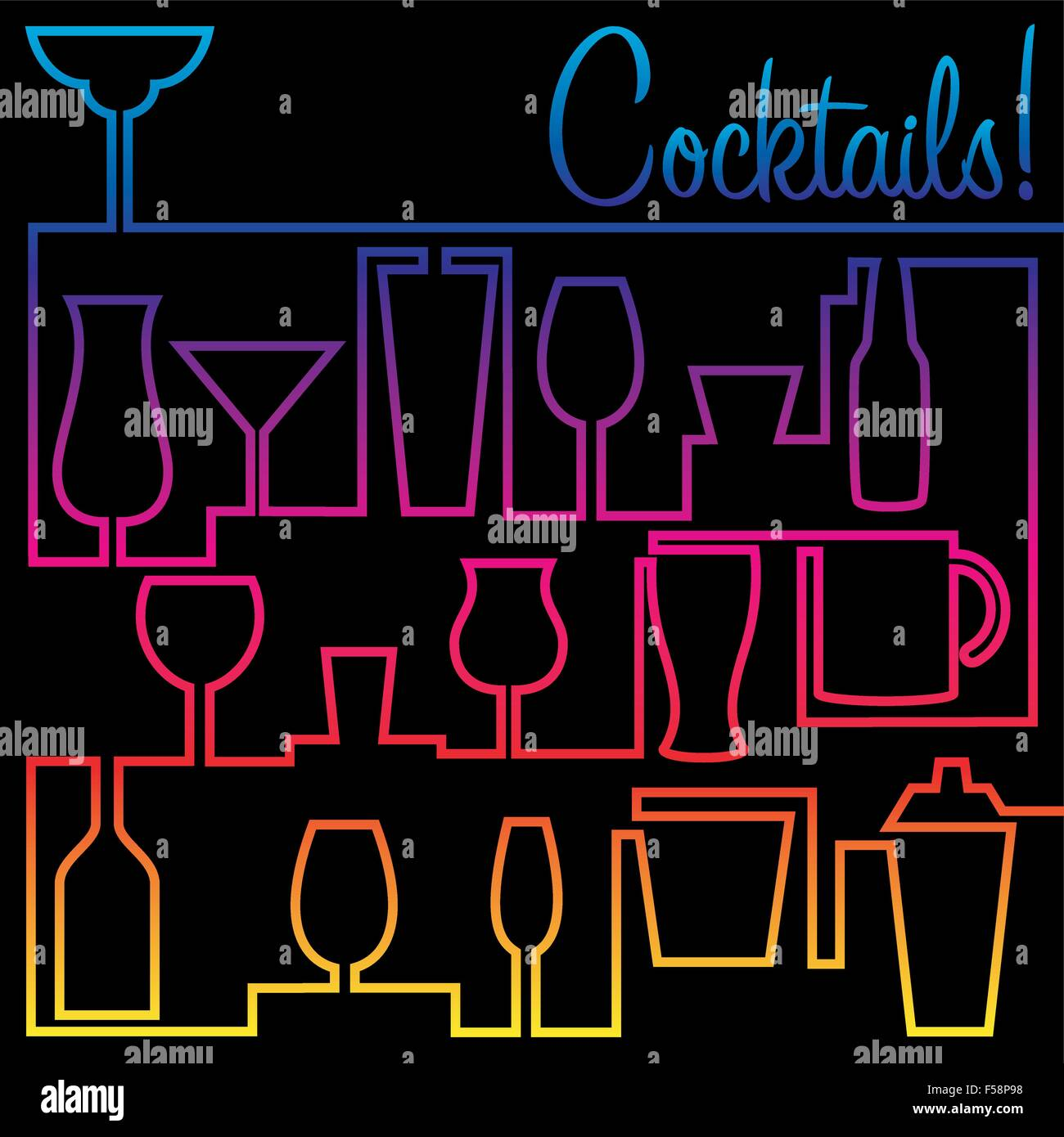 cocktail party invitation card glass drink abstract stock photos