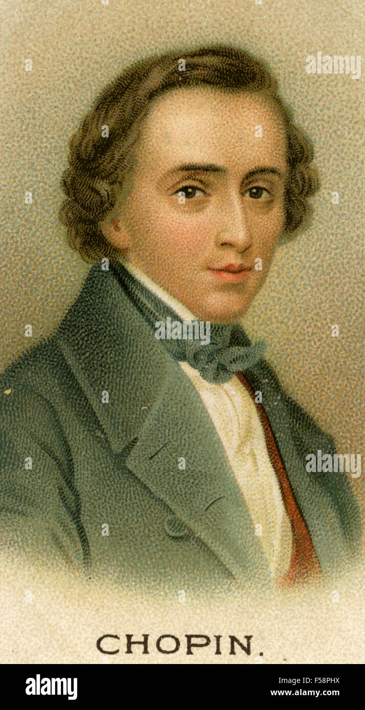 FREDERIC CHOPIN (1810-1849) Polish composer - Stock Image