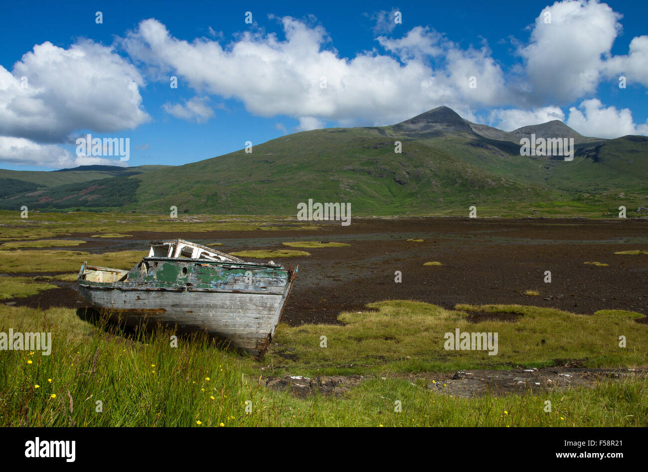 Old Fishing Boat, Mull - Stock Image