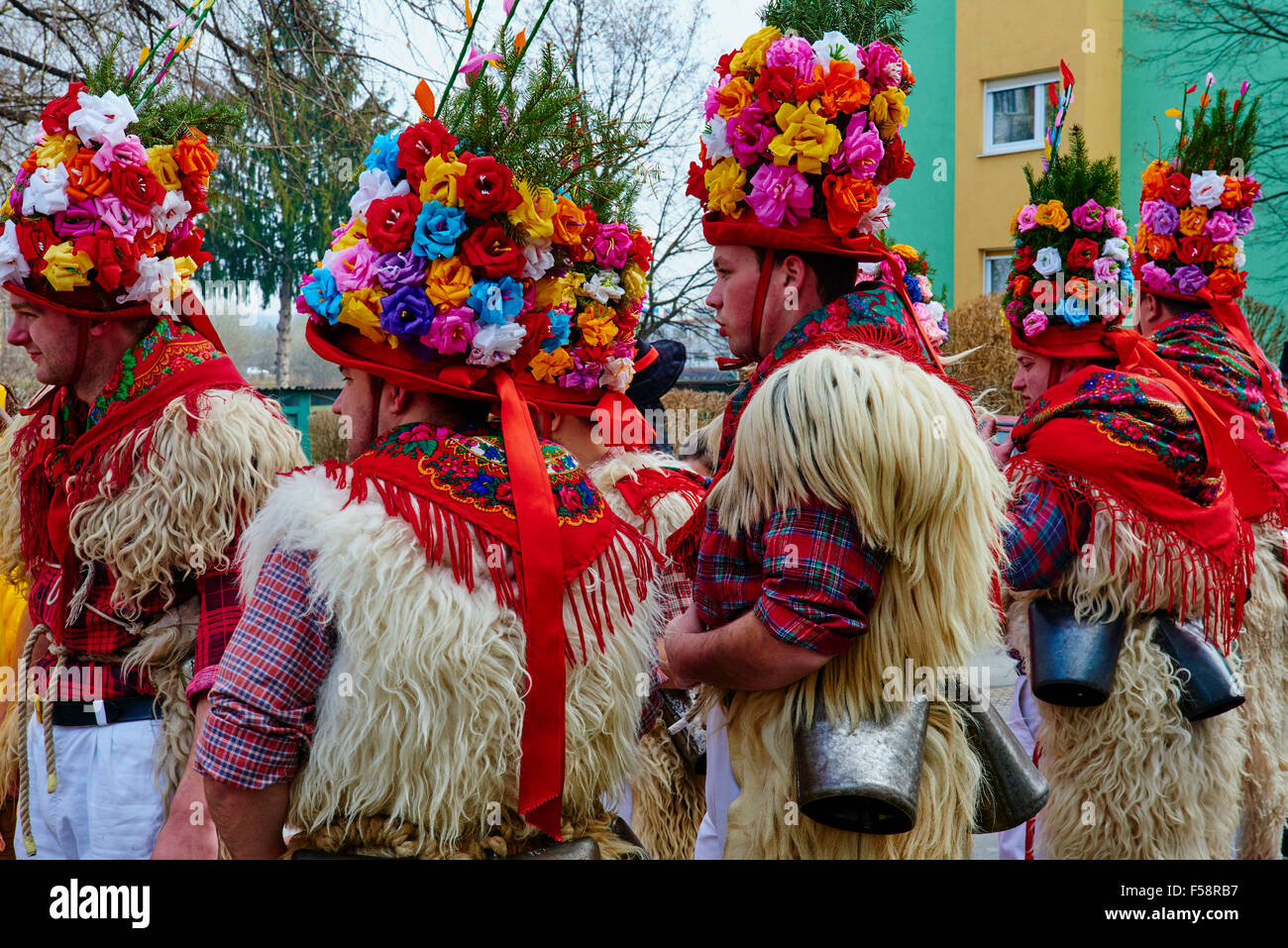 Slovenia, Lower Styria Region, Ptuj, town on the Drava River banks, carnival day Stock Photo