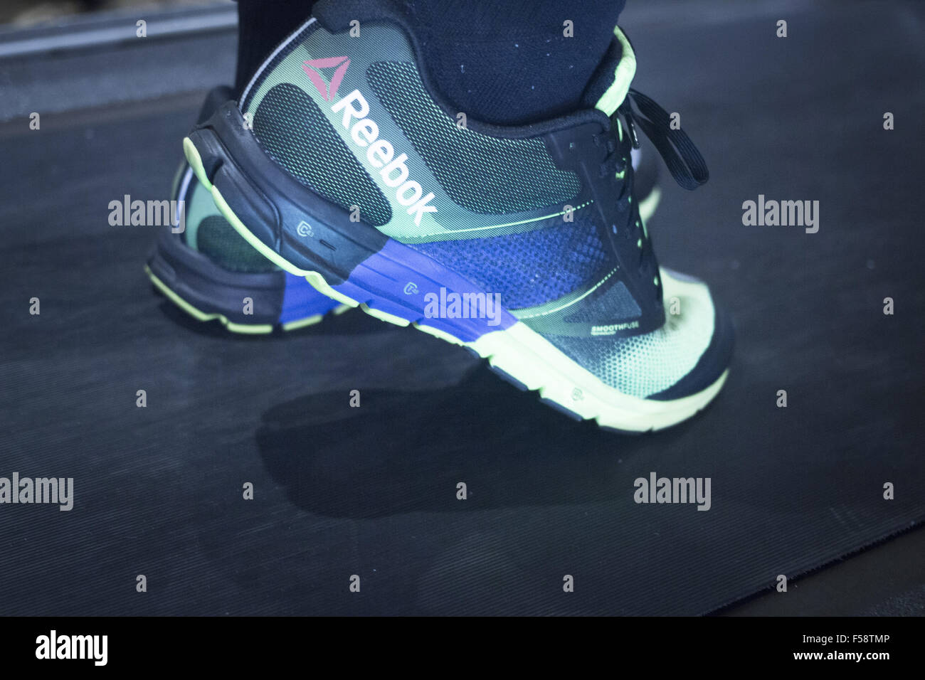 Sports performance running treadmill marathon triathlon professional fitness, power, endurance and strength evaluation - Stock Image