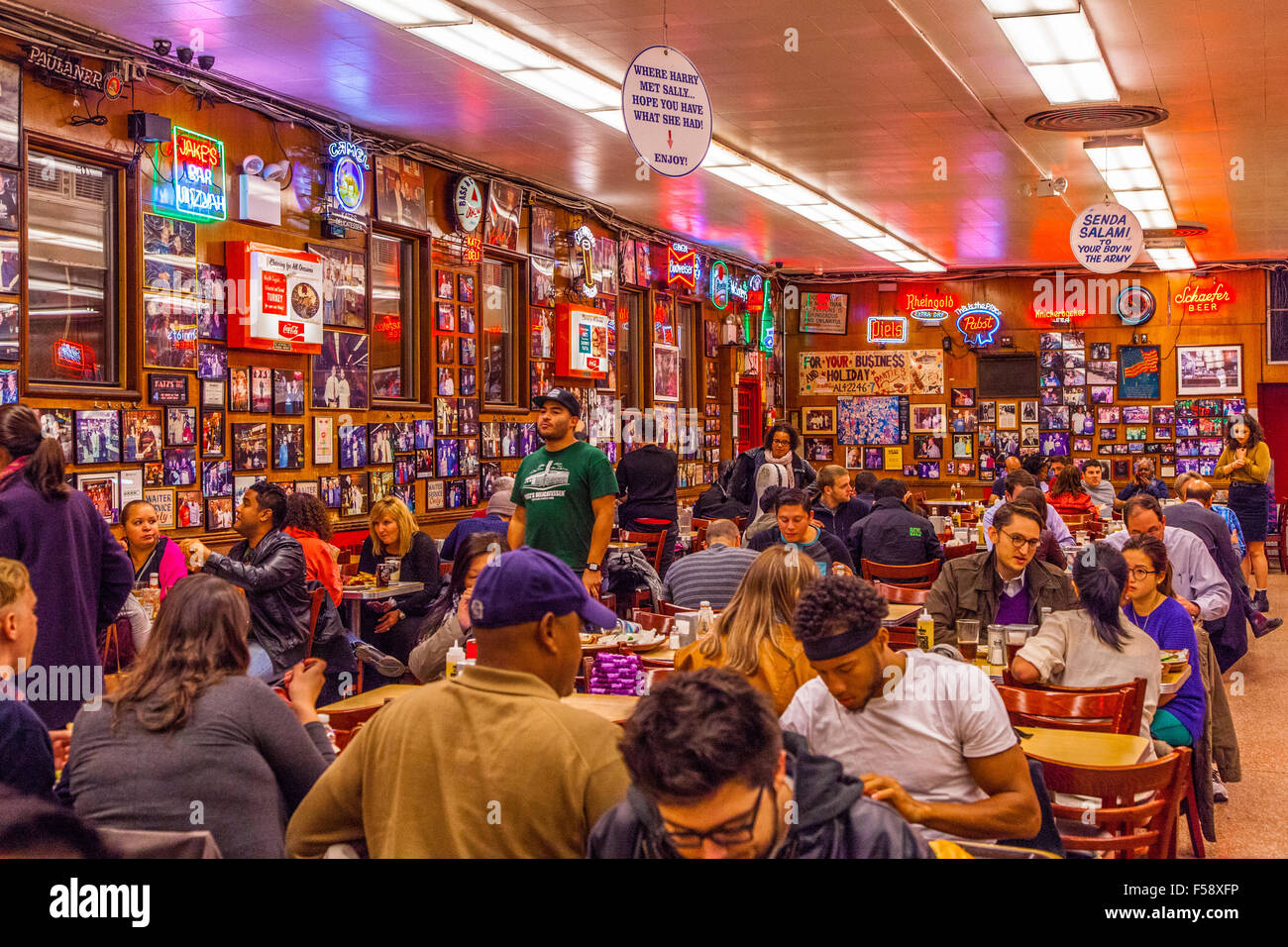 katz's deli, a delicatessen diner on the lower east side, new york