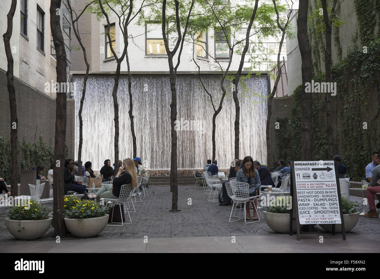 Paley Park 3 East 53rd Street. NYC - Stock Image