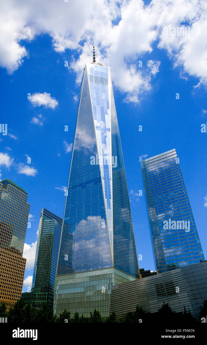 New World Trade Center One WTC One in New York - Stock Image