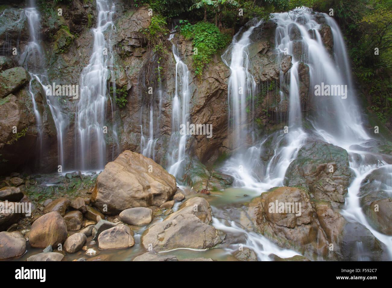 Tien Sa Waterfall, Sapa village, Lao Cai Province, Northwest Vietnam. - Stock Image