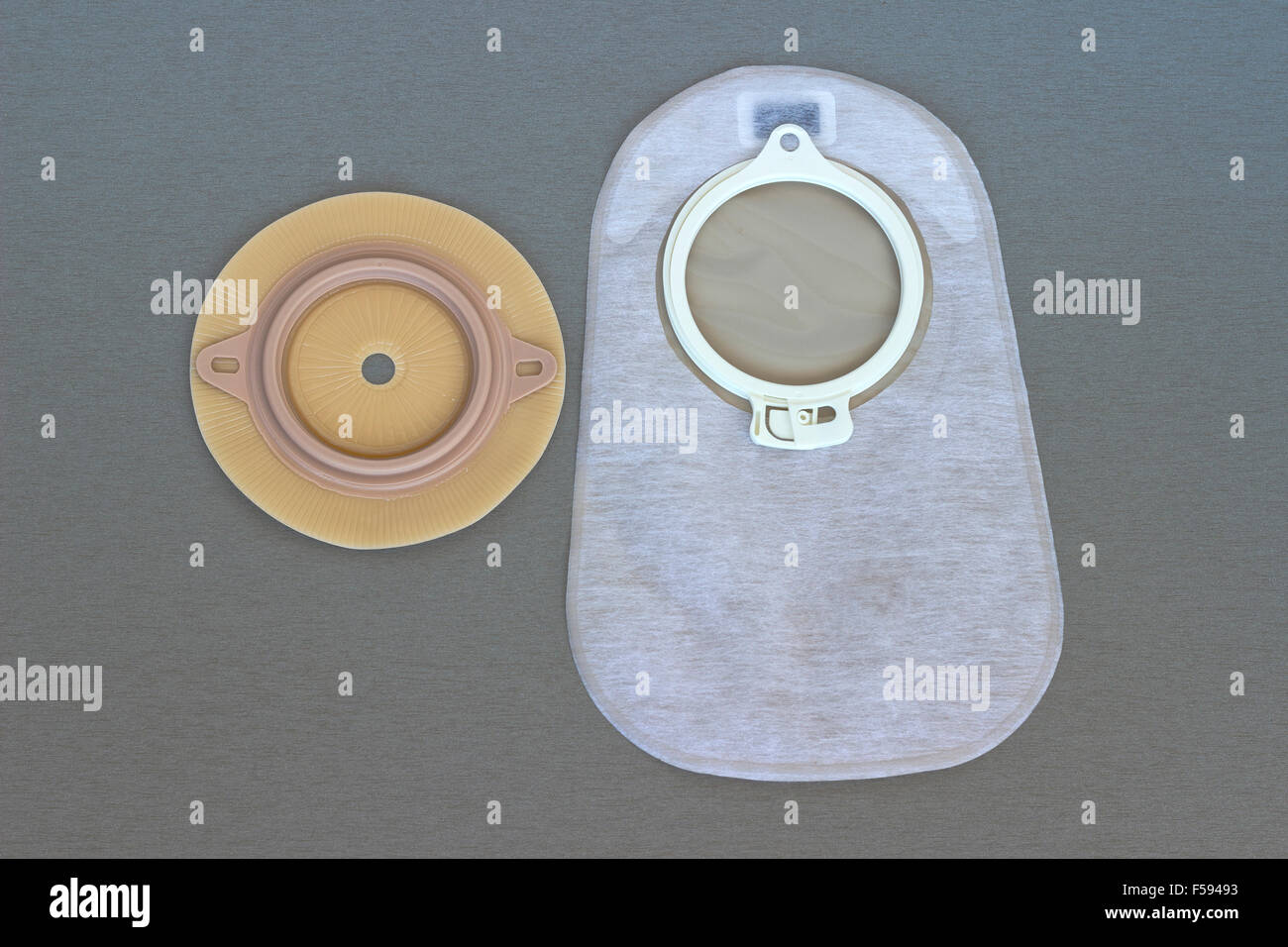 Ostomy supplies - Stock Image