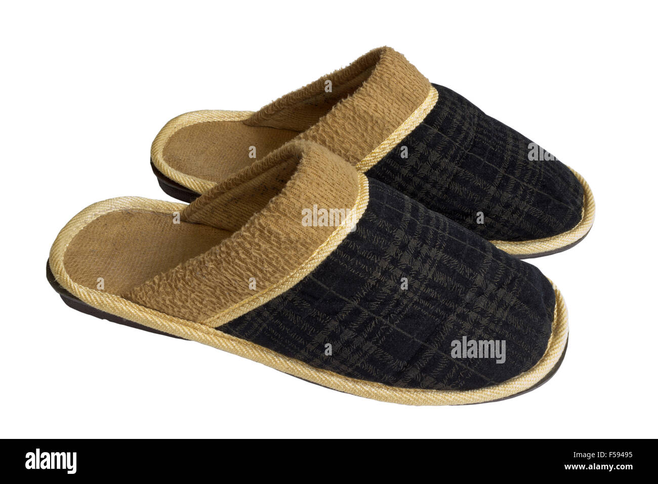 Pair of home slippers - Stock Image