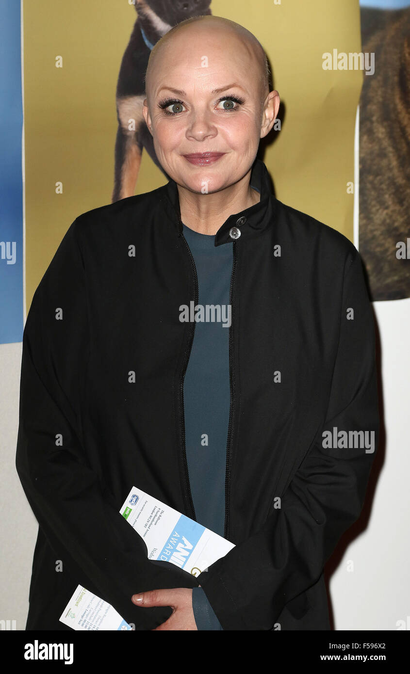 October 21, 2015 - Gail Porter attending the 'Daily Mirror & RSPCA Animal Hero Awards 2015' at 8 Northumberland - Stock Image