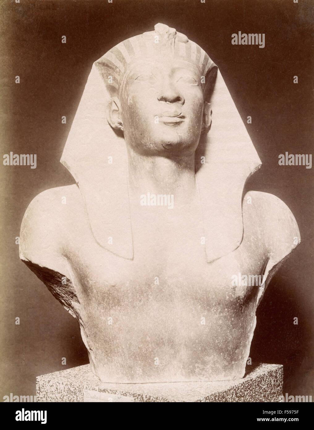 Bust of Pharaoh, Egypt - Stock Image