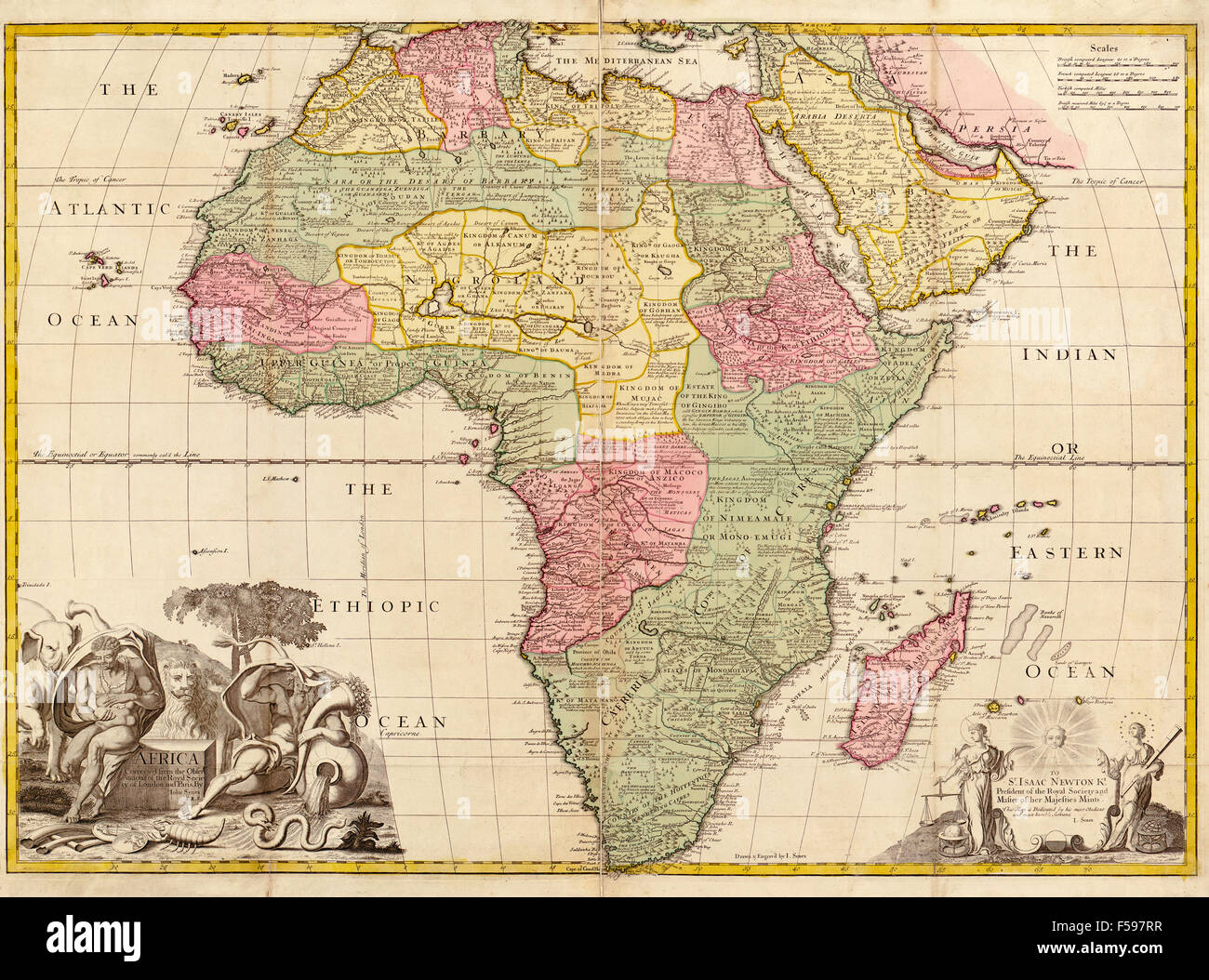 Africa circa 1725 from Modern Geography. Drawn and engraved by John ...