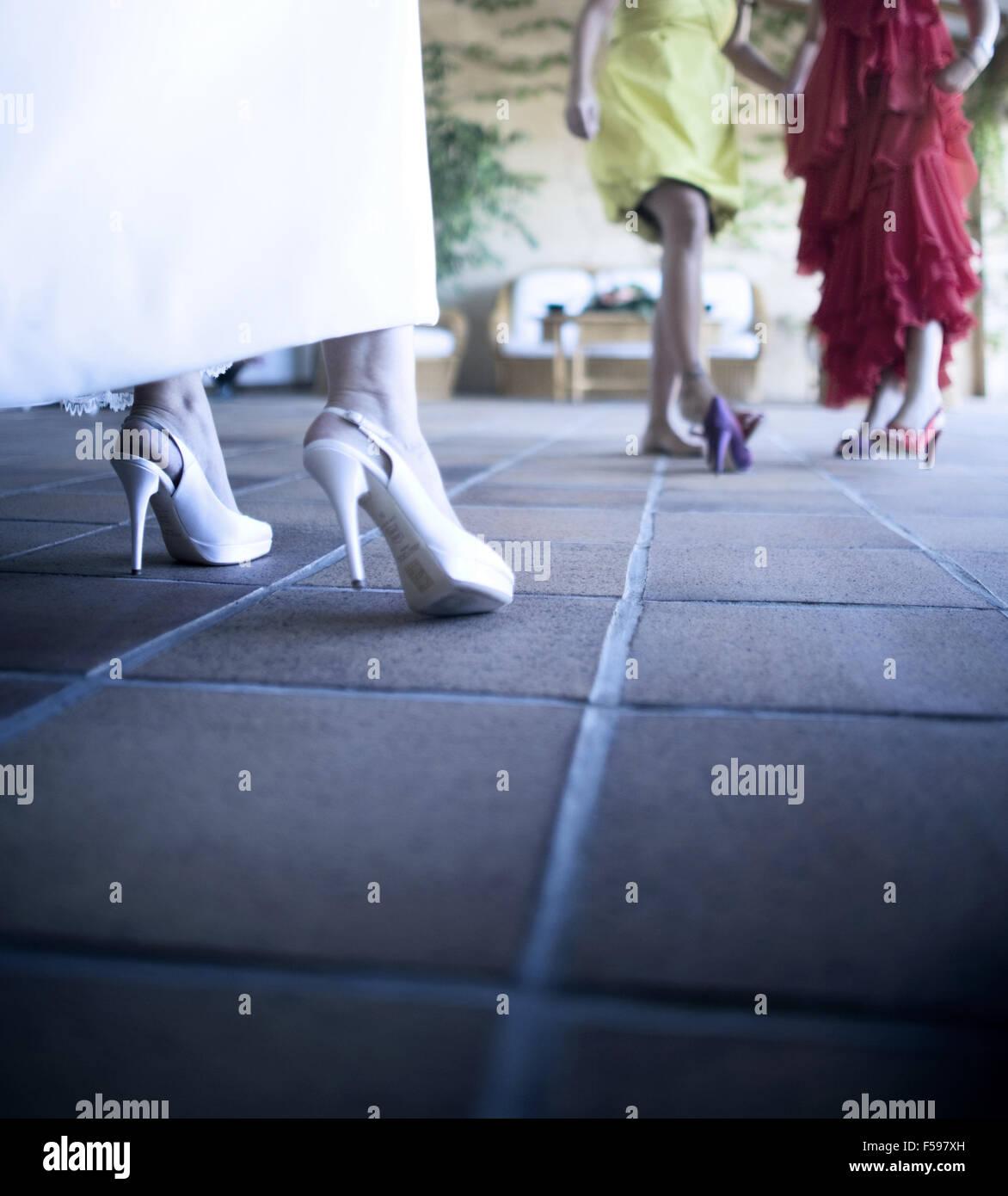 3602c7593c4 White Wedding Dress And Blue Shoes   Saddha