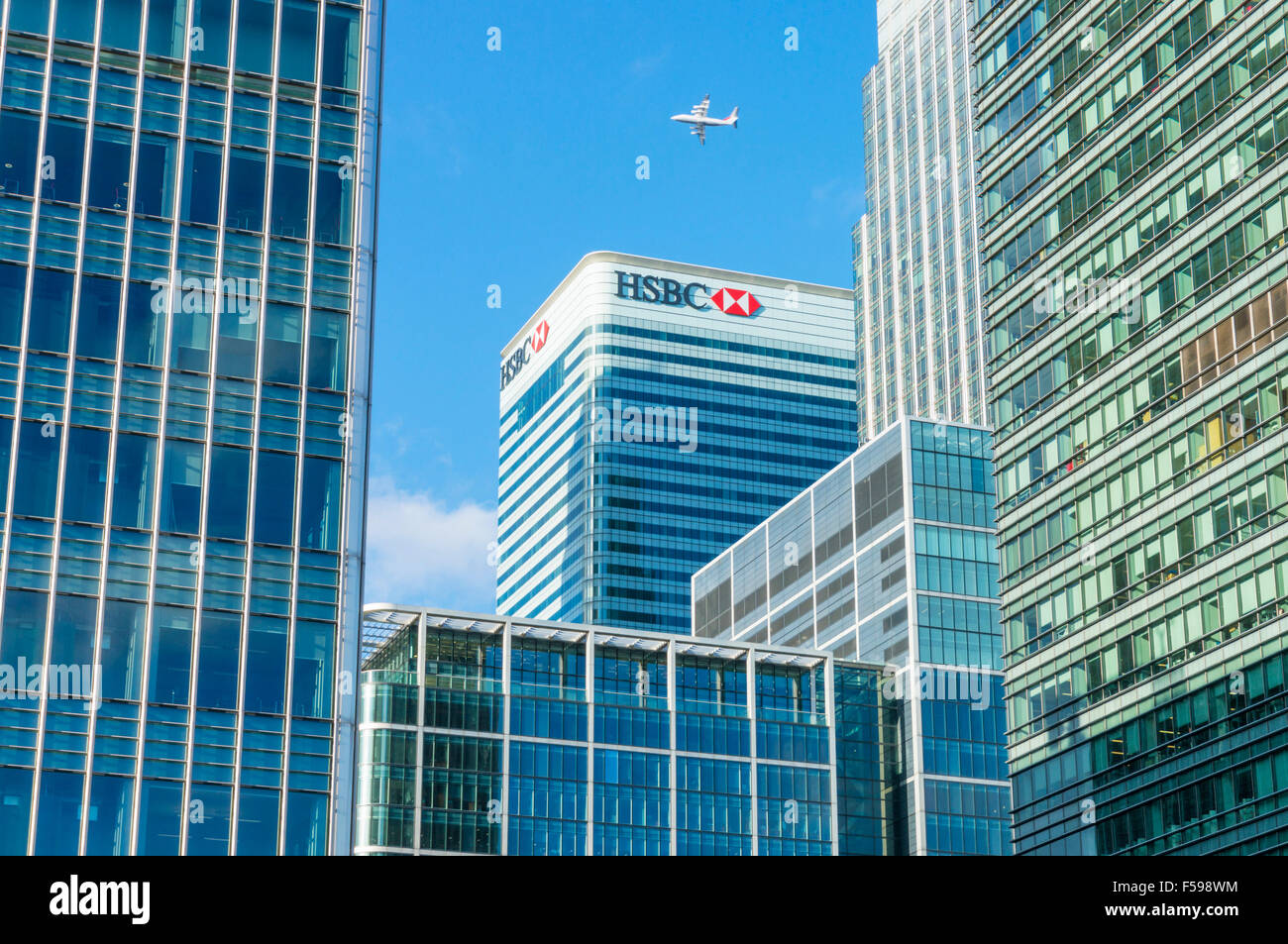 Canary wharf skyscrapers CBD banking HSBC and financial district