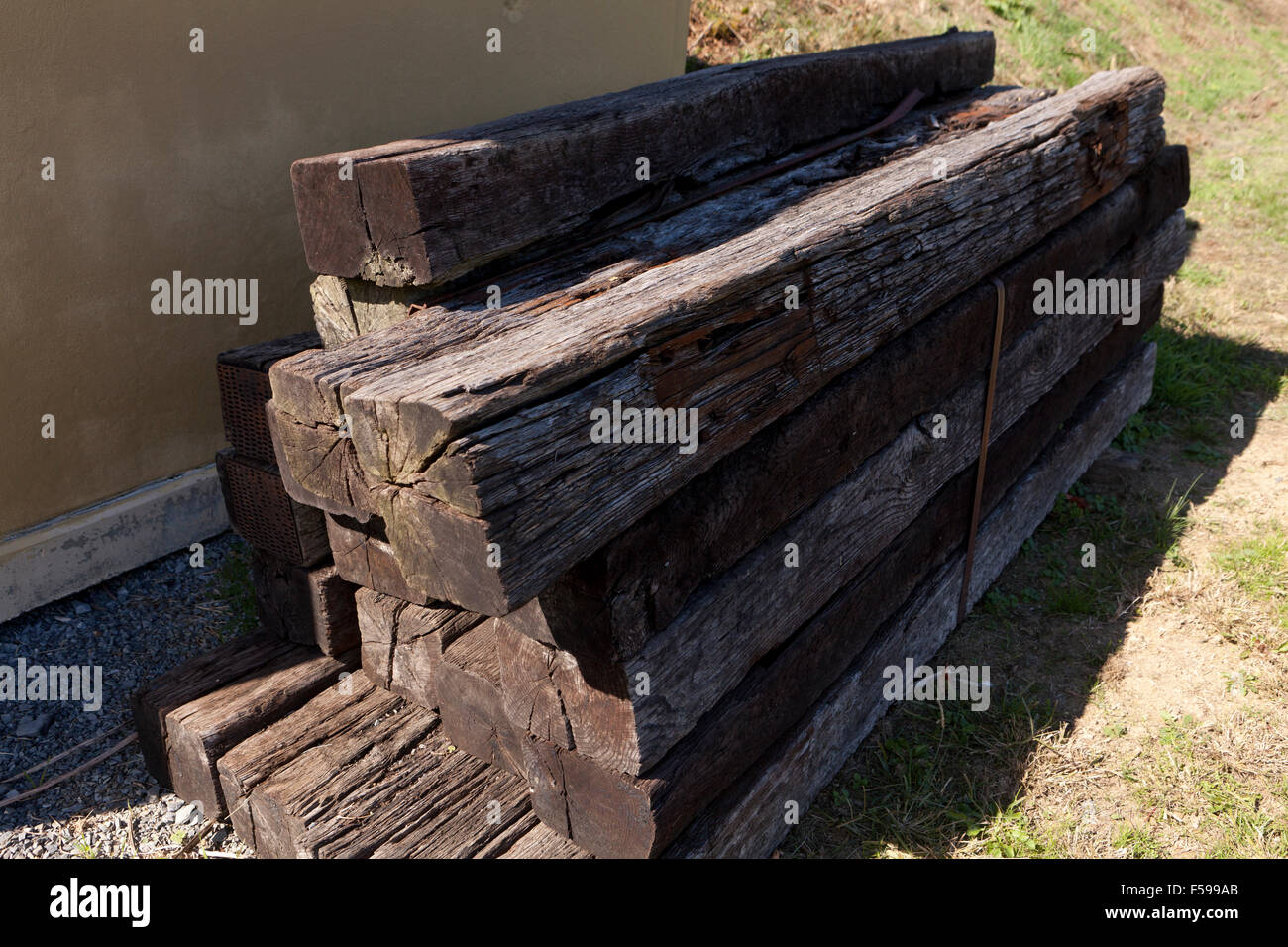Used railroad ties - USA Stock Photo: 89330035 - Alamy