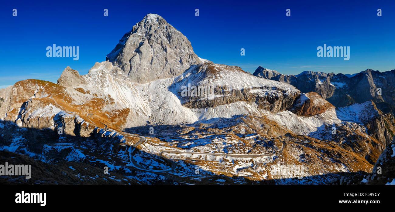 Mountain peak panoramic. - Stock Image