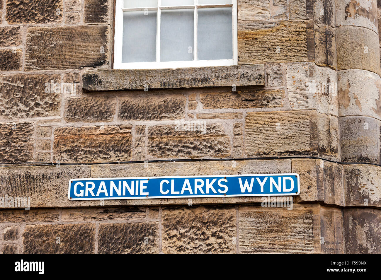 Grannie Clarks Wynd at St Andrews, Fife, Scotland UK - A Wynd is a narrow lane or alley - Stock Image