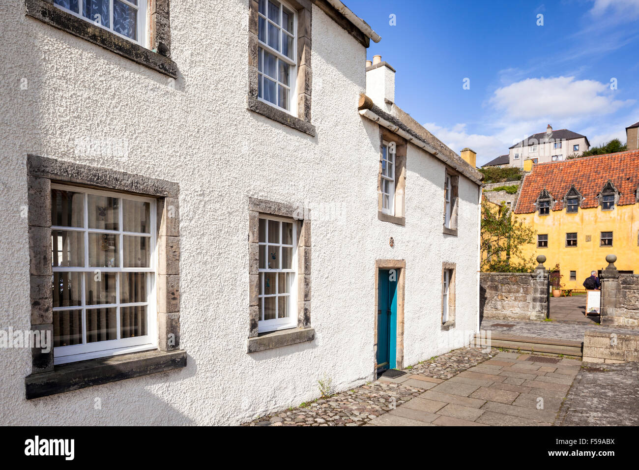 Old buildings in the historic Royal Burgh of Culross, Fife, Scotland UK - Stock Image
