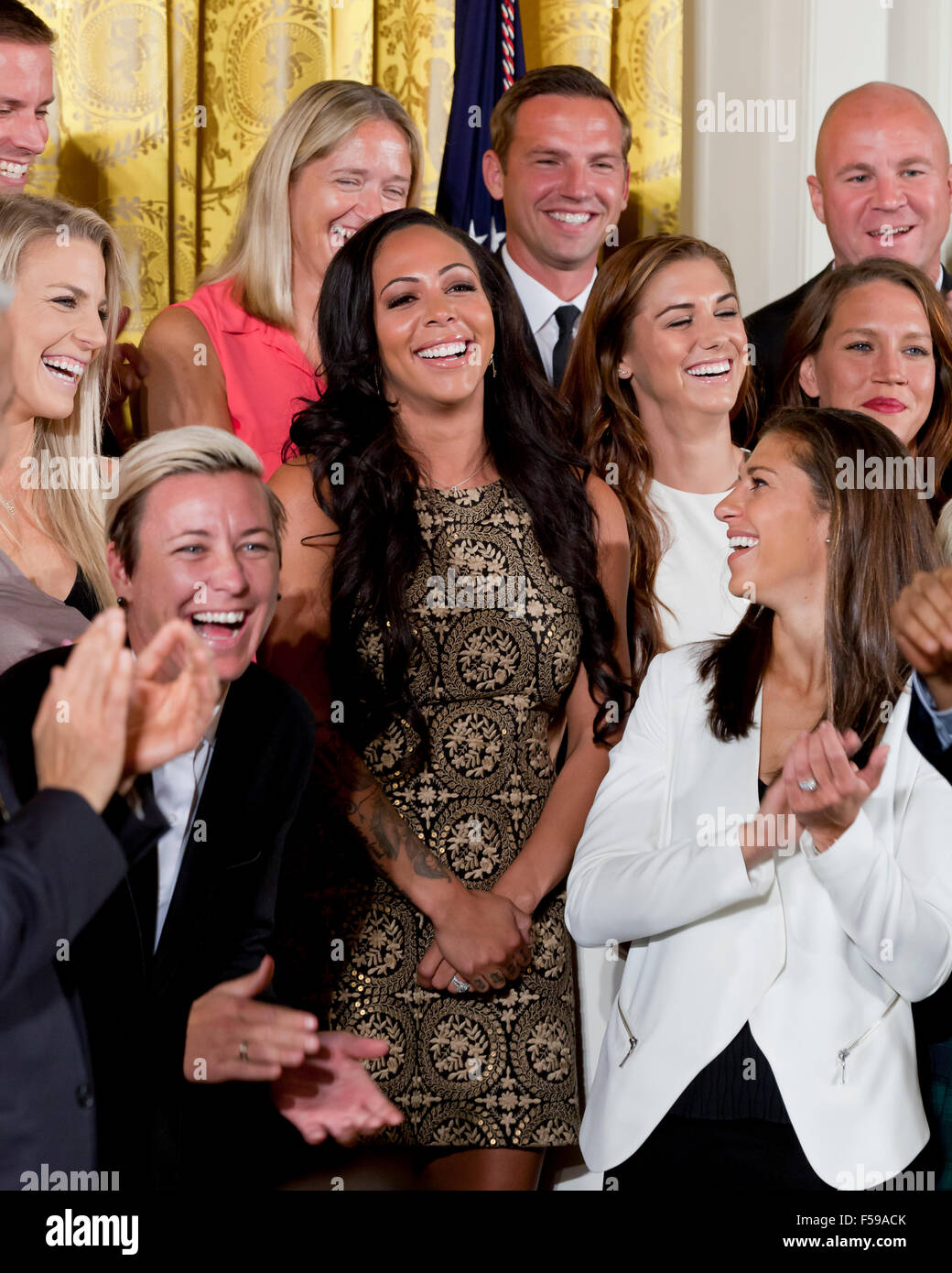 US Women's Soccer Team members at White House event - Washington, DC USA - Stock Image