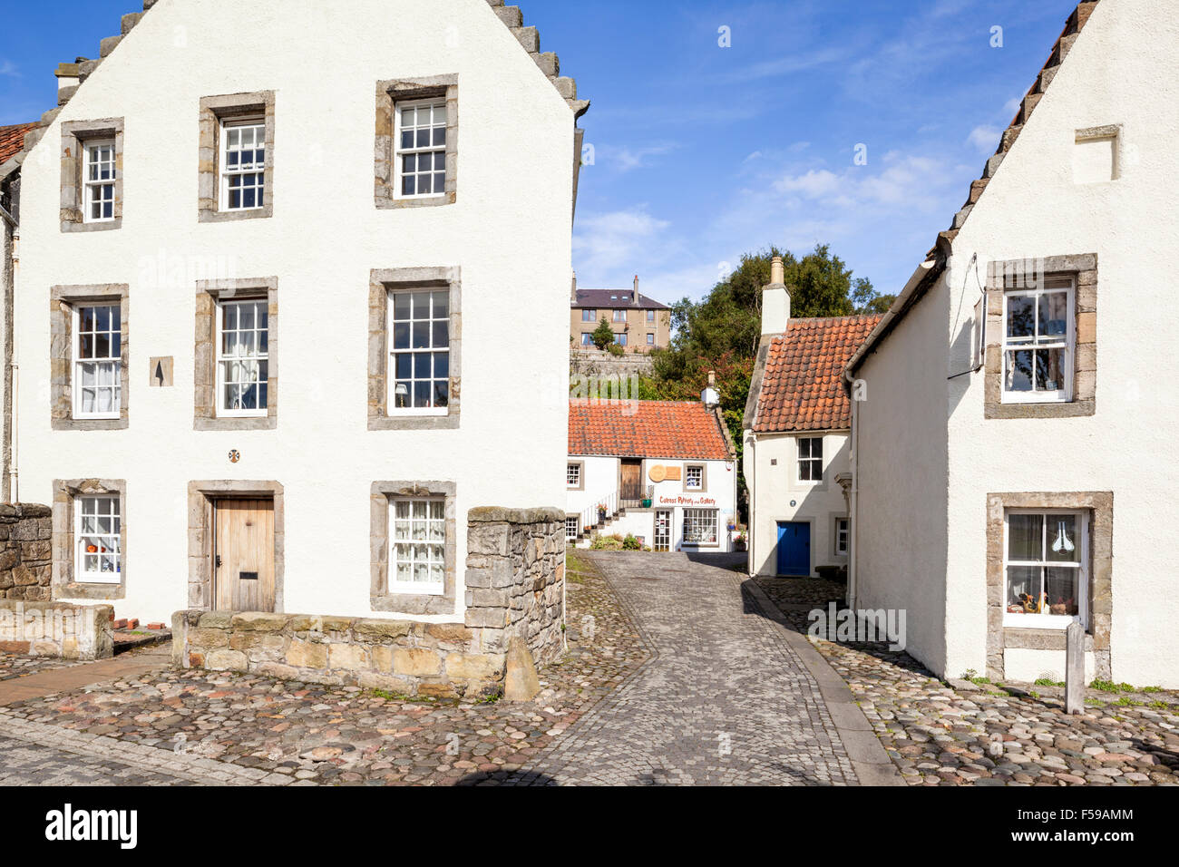 Historic buildings in the Royal Burgh of Culross, Fife, Scotland UK - Stock Image