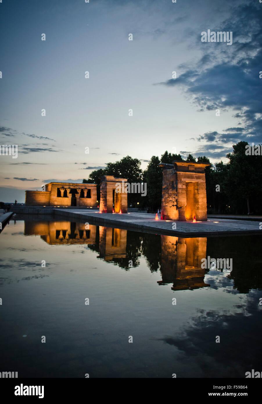 Templo de Debod, Madrid, Spain - Stock Image