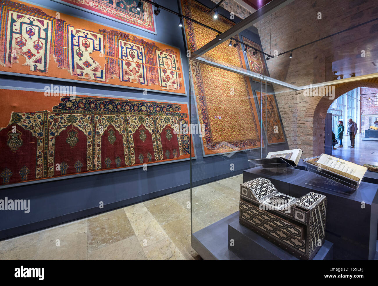 Prayer Rugs And Furniture In The Museum Of Turkish And Islamic Arts,  Hippodrome, Sultanahmet, Istanbul, Turkey.