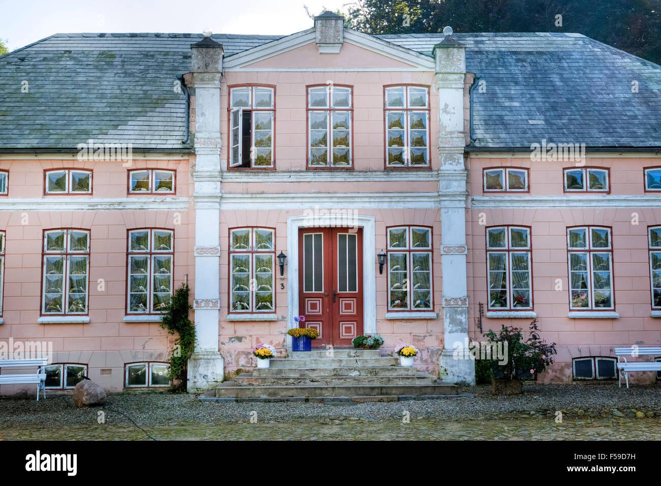 mansion, Unewatt, Schleswig-Holstein, Germany - Stock Image