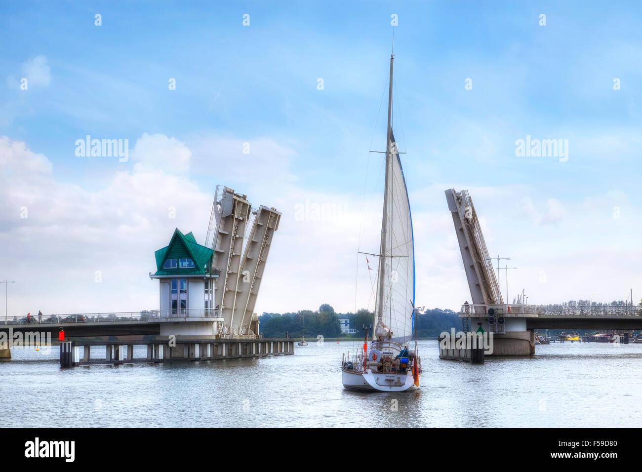 Kappeln, Schlei bridge, Schleswig-Holstein, Germany - Stock Image