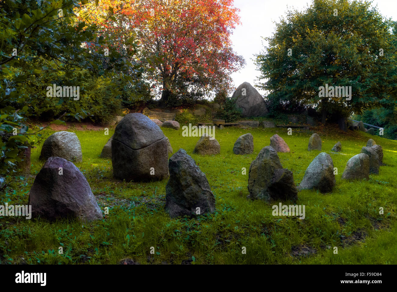 Thing meeting-place, Stoltebuell, Schleswig-Holstein, Germany - Stock Image