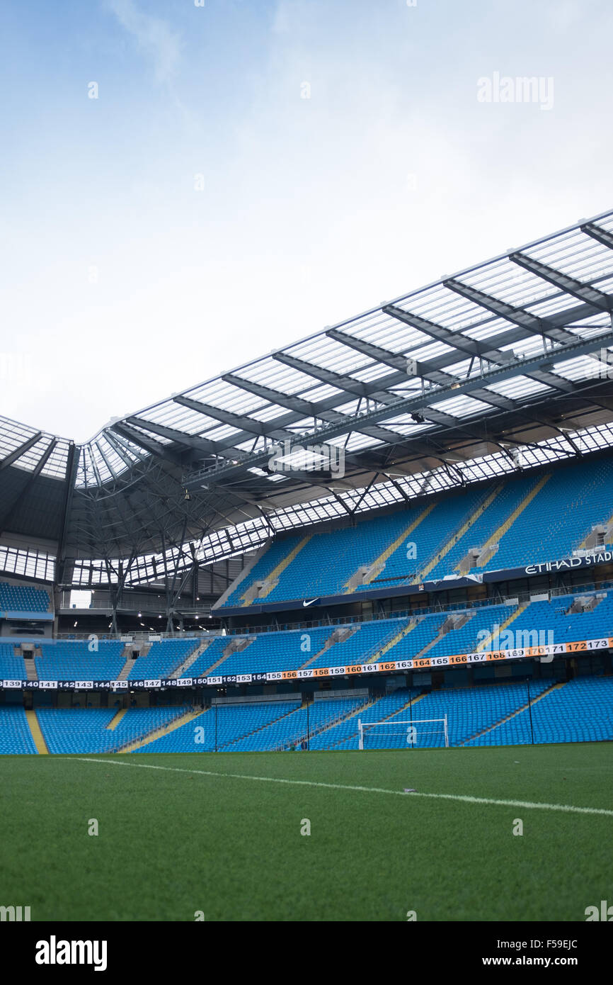 Etihad Stadium, home of Manchester City football club - Stock Image