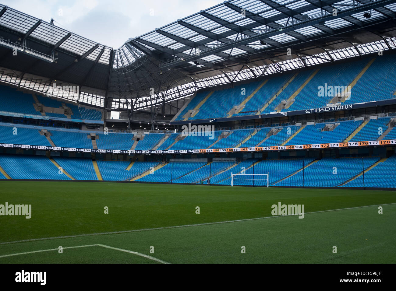 Etihad stadium, Manchester, home of Manchester City FC - Stock Image