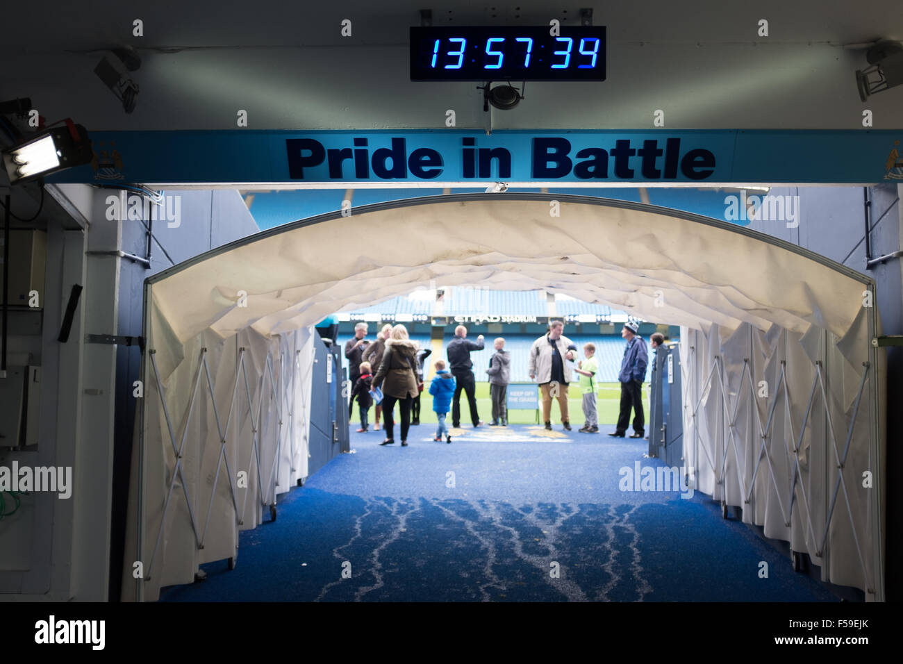 players tunnel at the etihad stadium home of manchester city fc stock photo 89334187 alamy. Black Bedroom Furniture Sets. Home Design Ideas