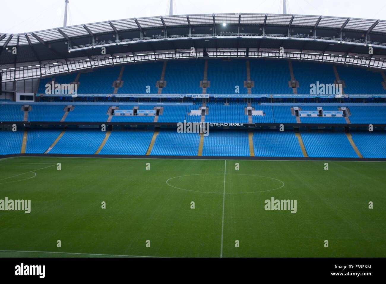 Etihad stadium, Manchester, home of Manchester City FC - Stock Image