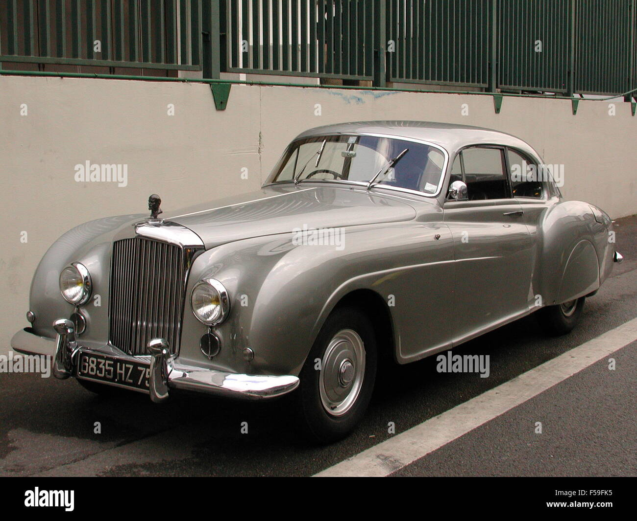 Bentley 1950s R type Continental Coupe with customised radiator grille ornament - Stock Image