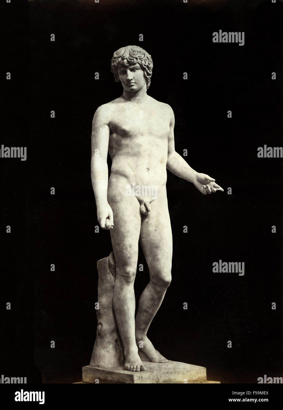 Statue of Antinous Farnese, Italy - Stock Image