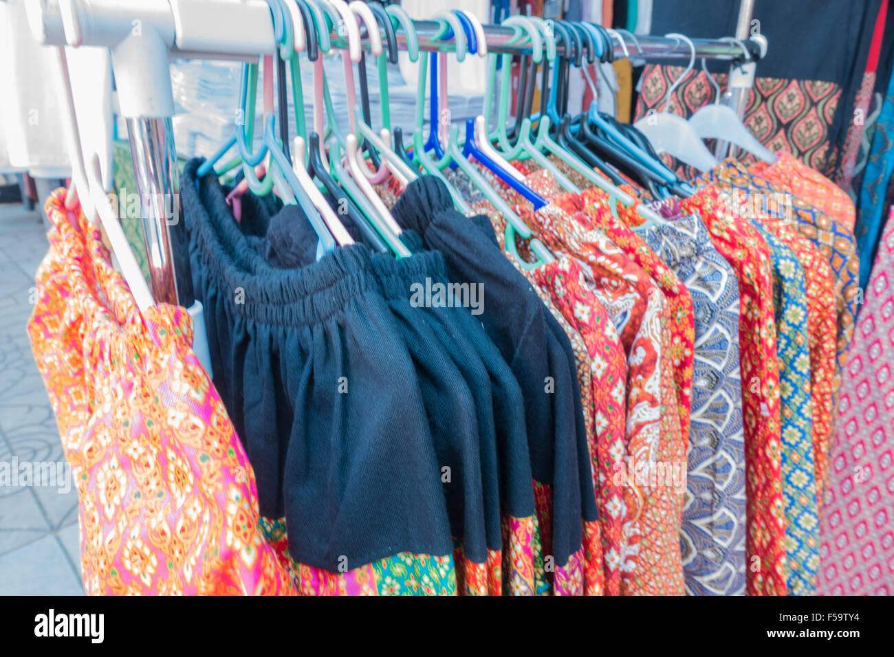 Handmade cloth from farmers, agricultural fairs - Stock Image