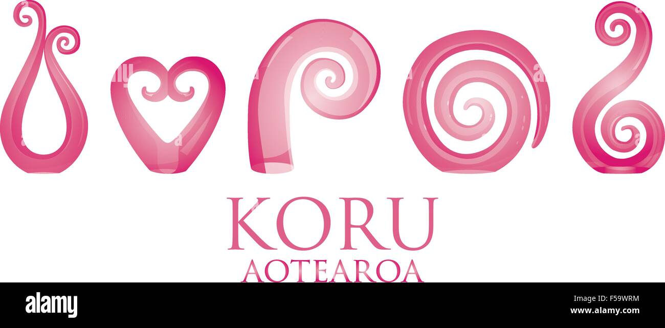 a8b236e10e2e5 A set of glass Maori Koru curl ornaments Stock Vector Art ...