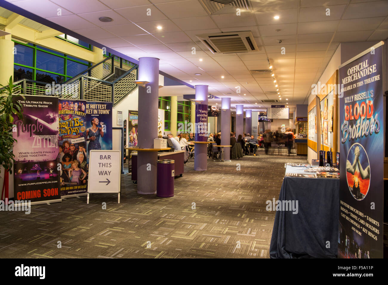 Foyer at Hawth Theatre Crawley West Sussex - Stock Image
