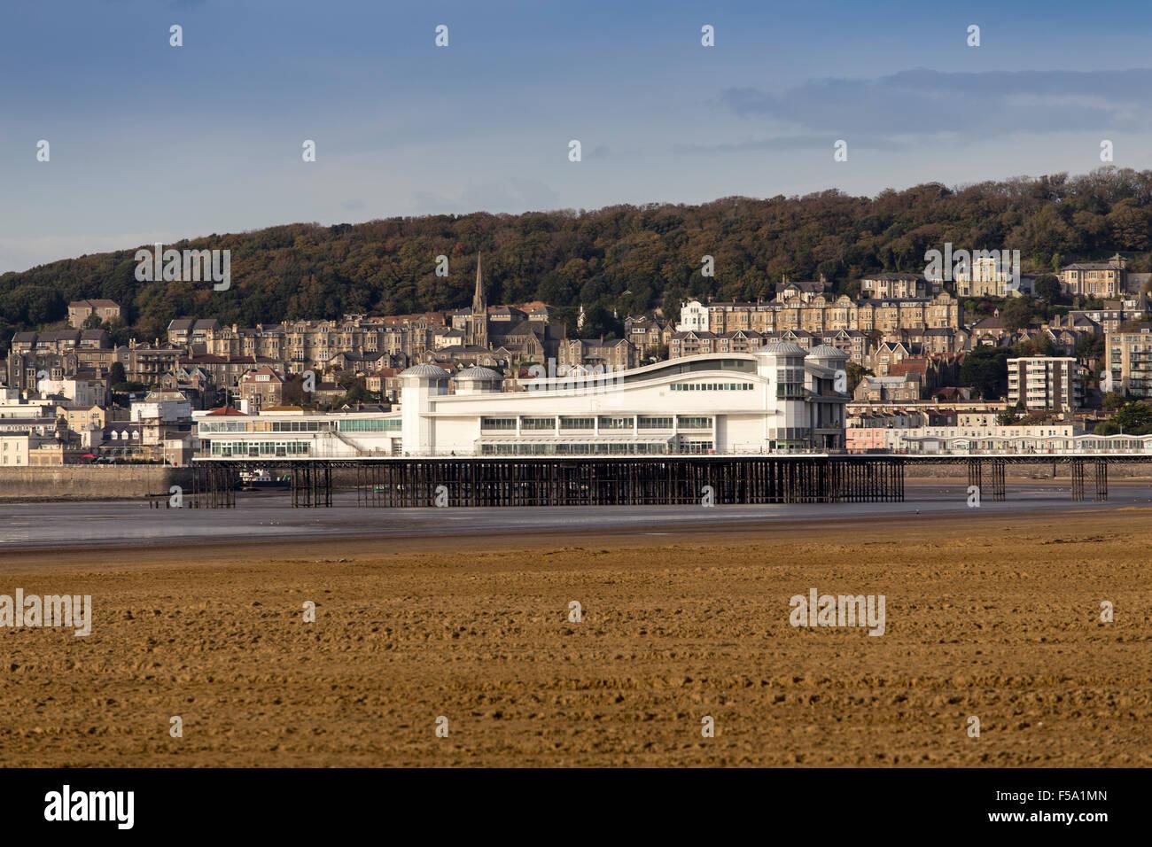 Weston Super Mare New Rebuilt Grand Pier Somerset England UK - Stock Image