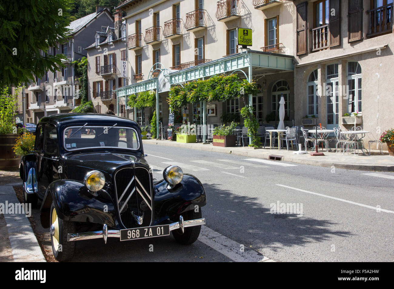 Citroen Traction Avant, famous front wheel drive car with monocoque body - Stock Image