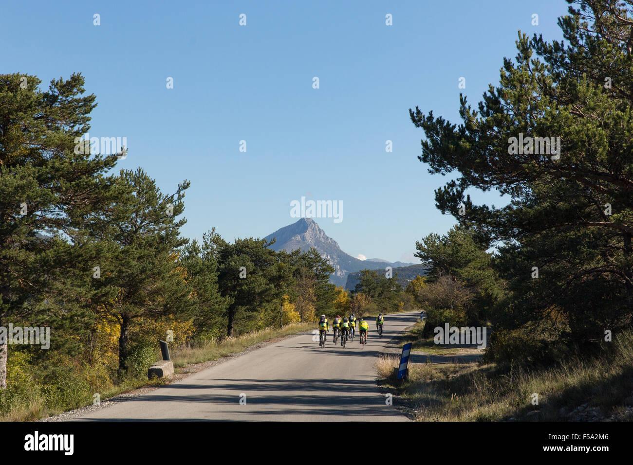 Bikers near La palude du Verdon Stock Photo