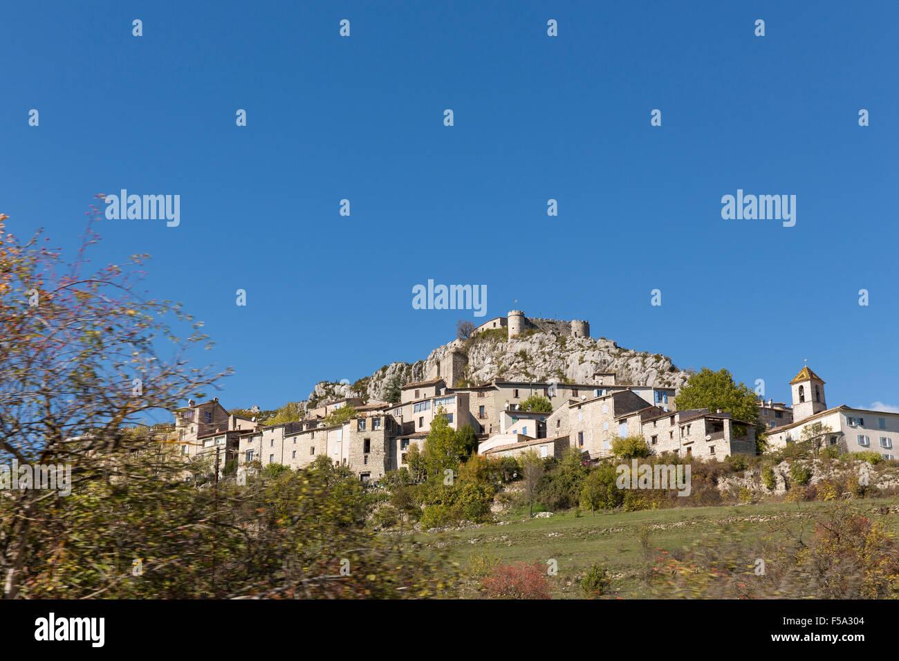 Trigance in der Verdon-Schlucht (Gorges du Verdon) - Stock Image