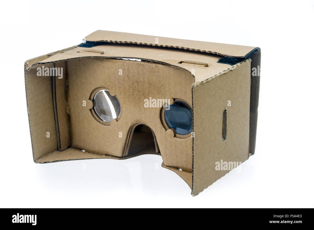 Google Cardboard, a 3D Virtual Reality attachment for smartphones - Stock Image