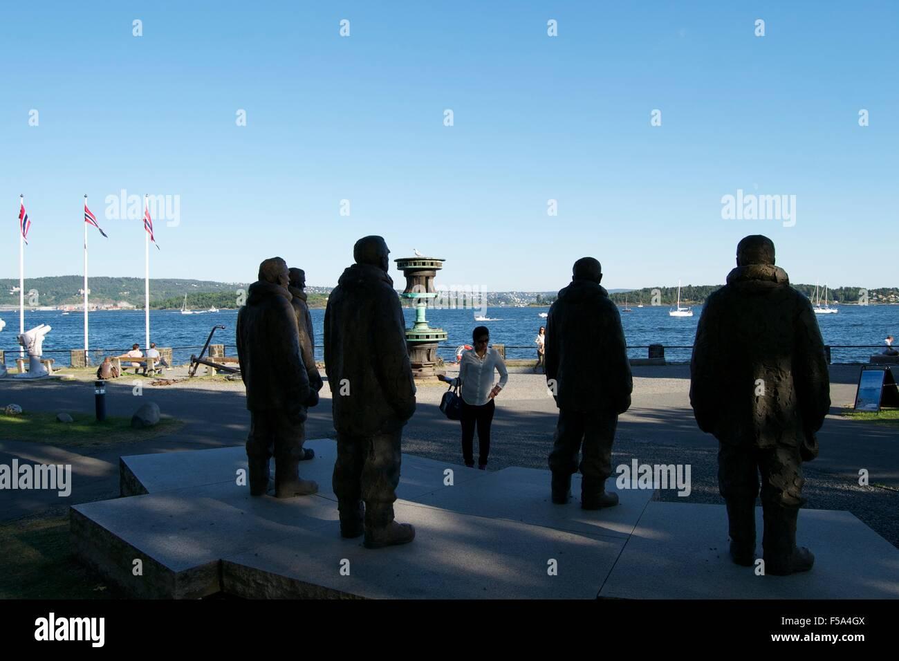 Antarctica explorers memorial Oslo Maritime Museum - Stock Image
