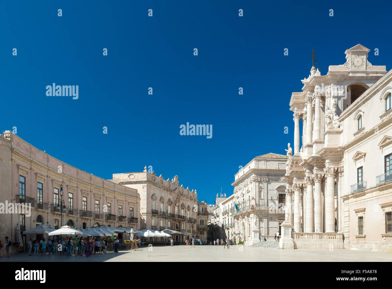 'Piazza Duomo', the main square of Syracuse - Stock Image