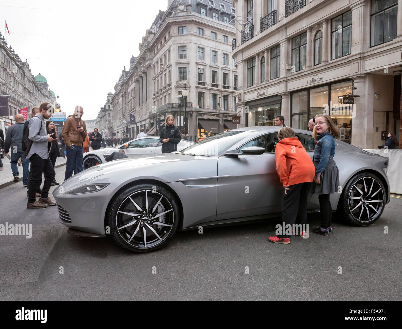 London Uk 31st October 2015 Aston Martin Db10 On Display At