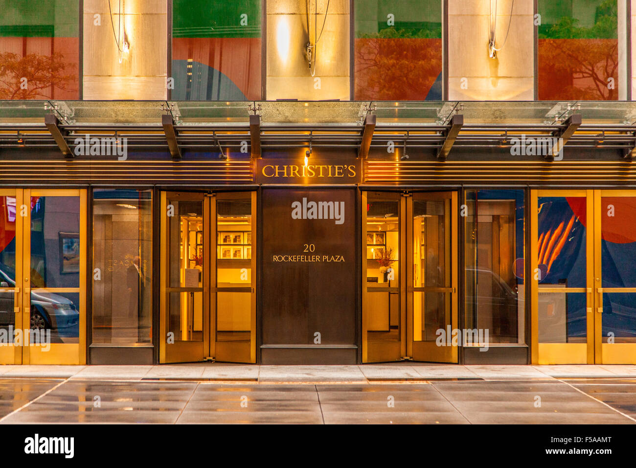 Christie's auction house, Rockefeller Plaza, New York City, United States of America. - Stock Image