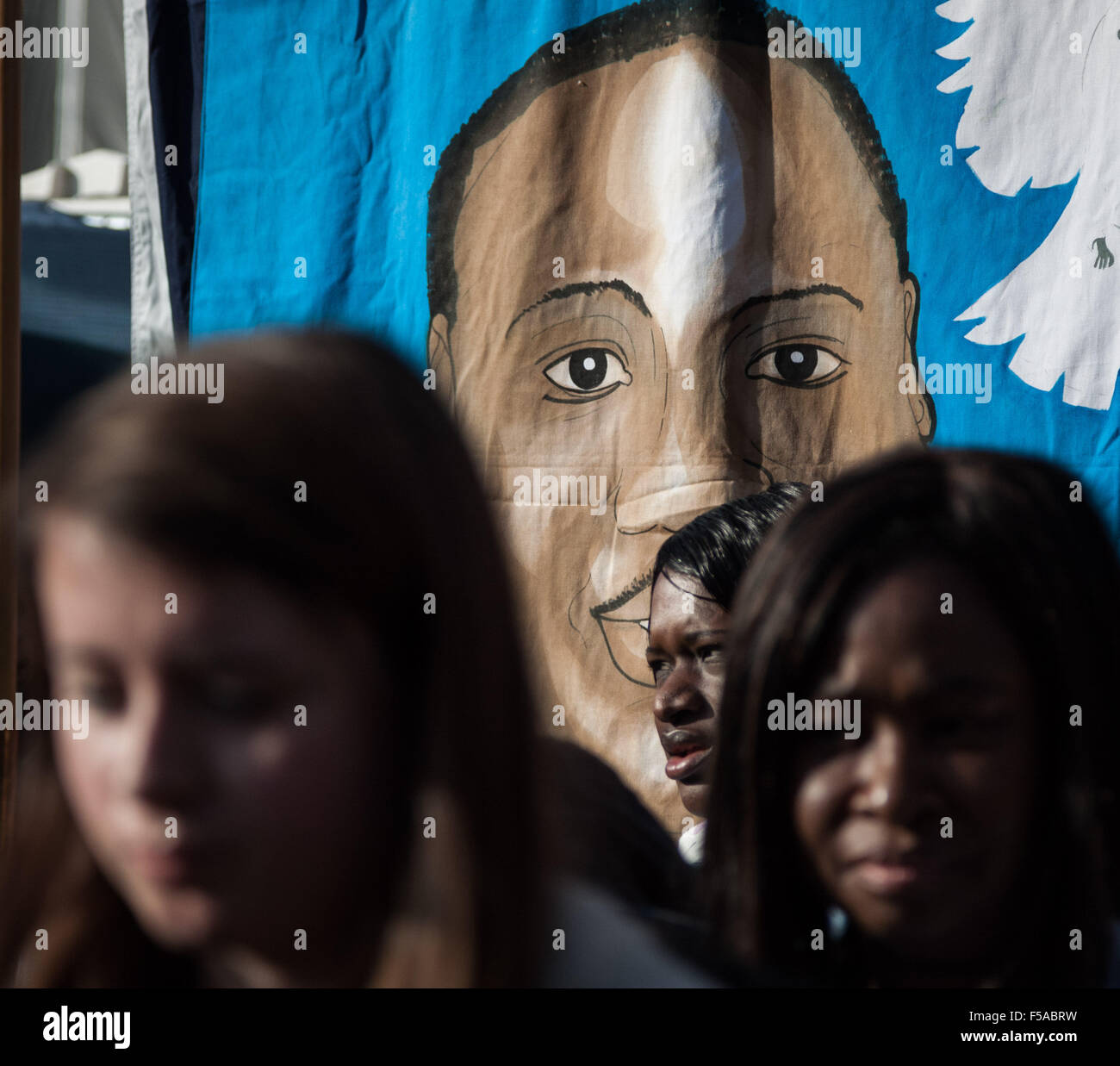 London, UK. 31st Oct, 2015. Annual remembrance procession protest march against deaths in custody by United Friends - Stock Image